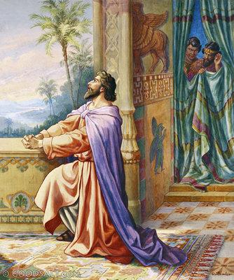 Daniel prayed facing Jerusalem