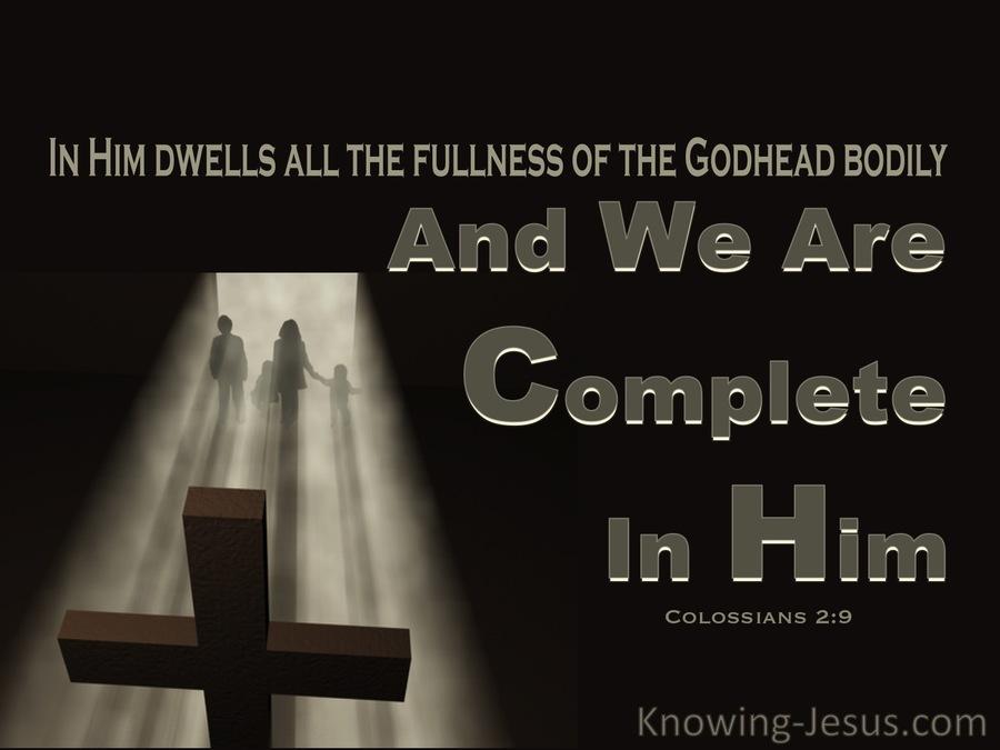 Complete in Him devotional 2 Colossians 2-9